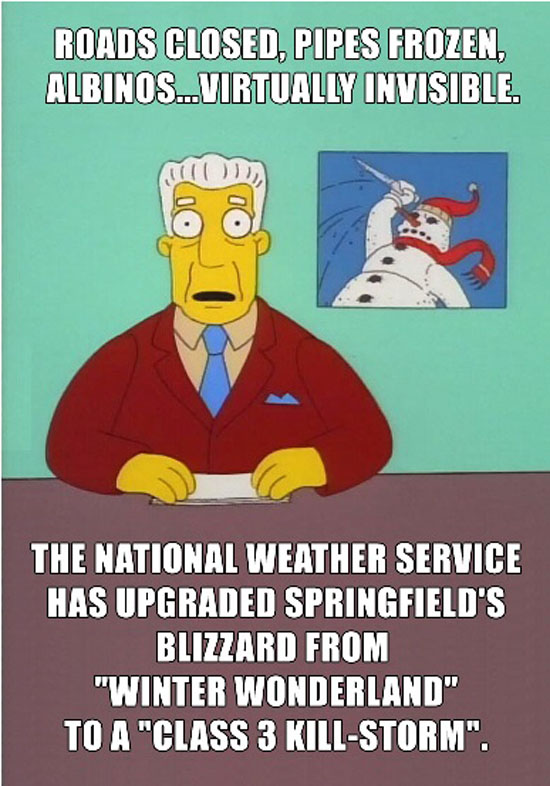 East Coast Weather Reports