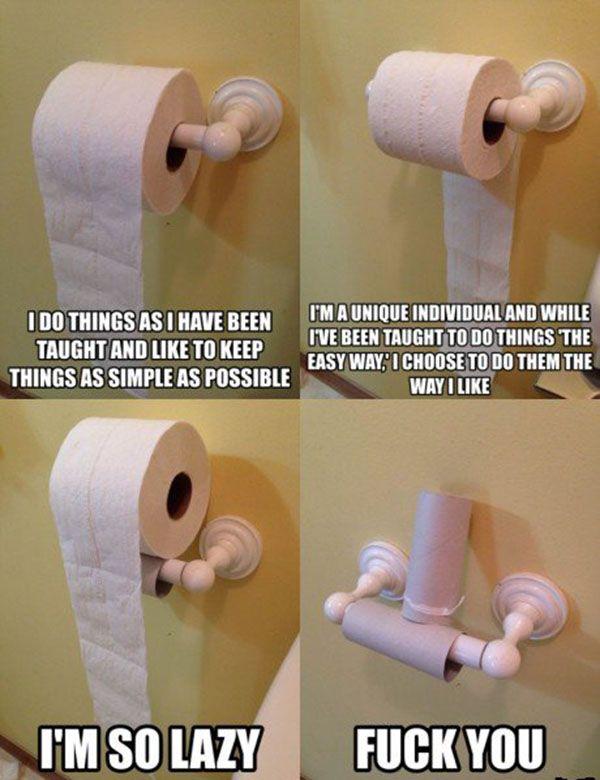Toilet Roll Etiquette